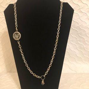 Origami Owl Necklace, Locket, Crystal Heart Insert